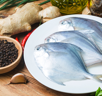 True fish traders - Fresh fish put on a plate